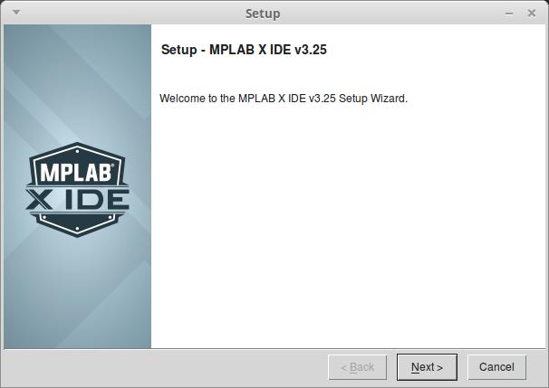 Окно программы установки MPLAB X