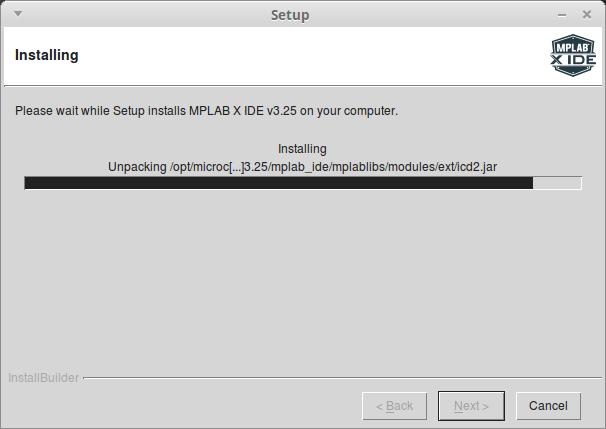 Установка файлов MPLAB X