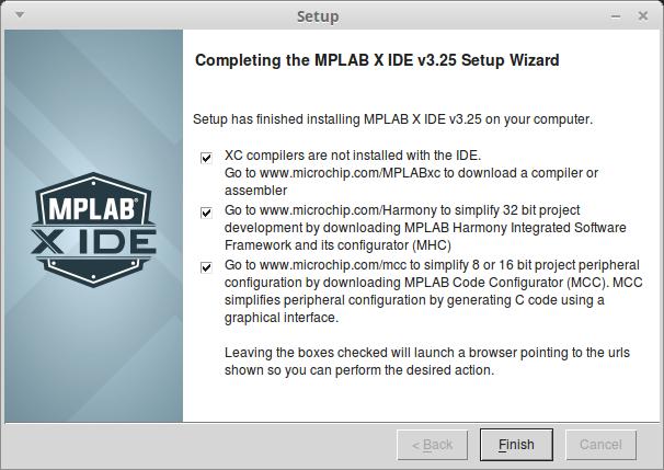 Выбираем для ознакомления с компонентами MPLAB X